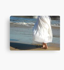 Feeling the Sun with Barefeet Canvas Print