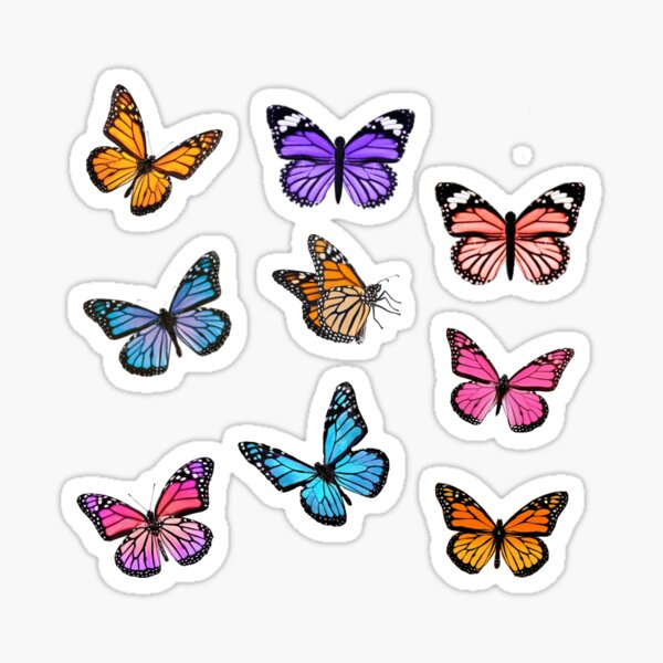 Ensemble d'autocollants papillon Sticker