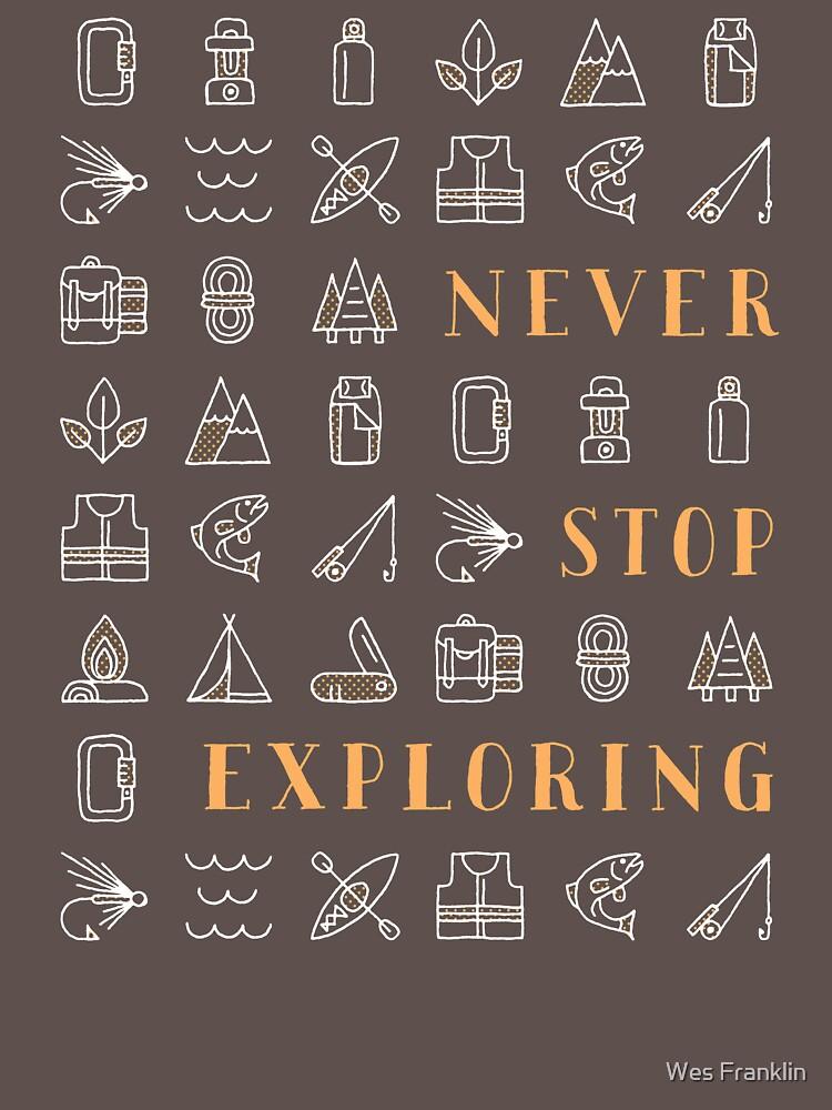 Never Stop Exploring | Unisex T-Shirt
