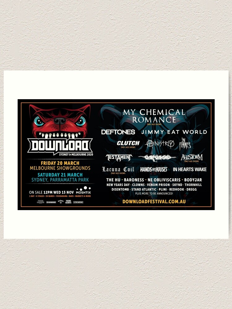 Download Festival 2020 Tour Lineup Malamselasa Art Print By Arthabard Redbubble