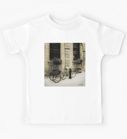 Tandem Bicycle and Flowers Kids Clothes