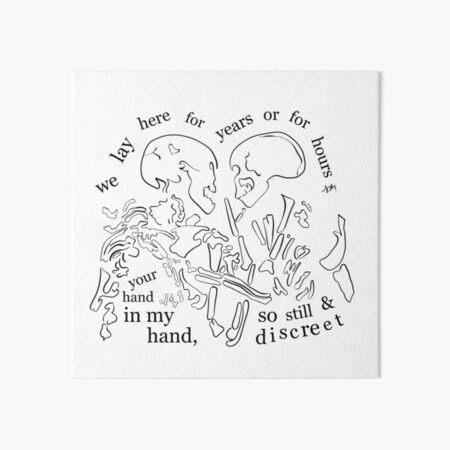 In a Week - Hozier-Inspired Skeletal Print  Art Board Print
