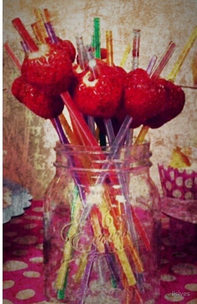 srawberry straws by lisives