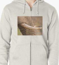 Ivory Zipped Hoodie