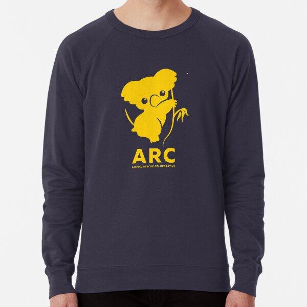 Katie the ARC Koala - estamos trabajando duro para ti pequeña - en amarillo Sudadera ligera