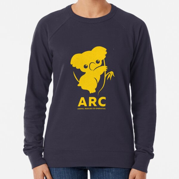 Katie the ARC Koala - we are working hard for you little one - in yellow Lightweight Sweatshirt