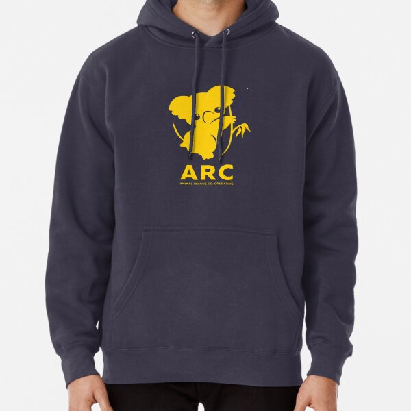 Katie the ARC Koala - we are working hard for you little one - in yellow Pullover Hoodie