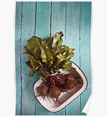 Beetroot in an enamel dish Poster