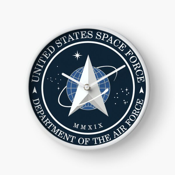 United States Space Force Logo Clock