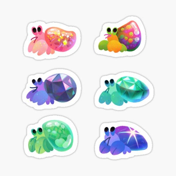 Jewel hermit crab Sticker