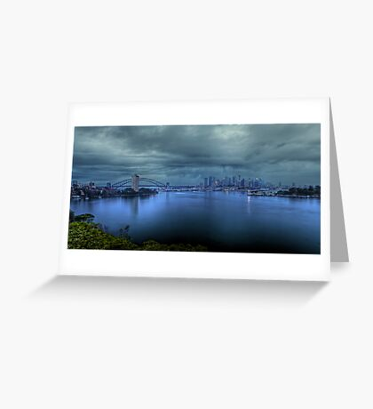 A City Under Siege Greeting Card