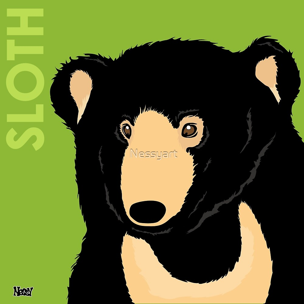 Sloth Bear by Nessyart