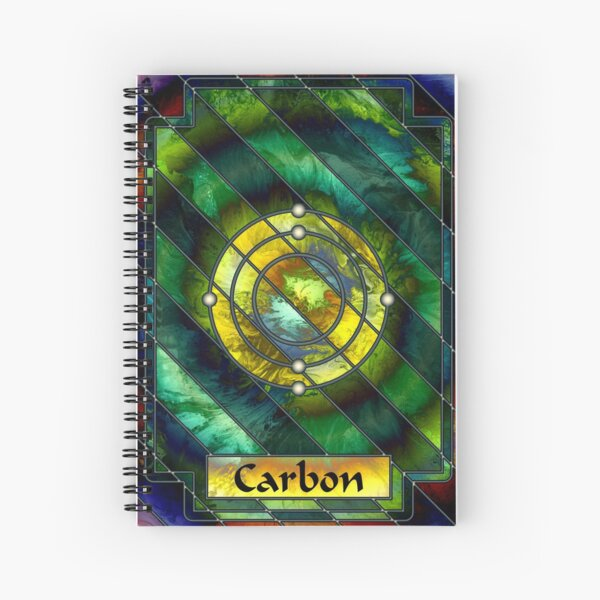 Element 6: Carbon Spiral Notebook