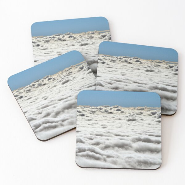 Fluffy Cloudscape Coasters (Set of 4)