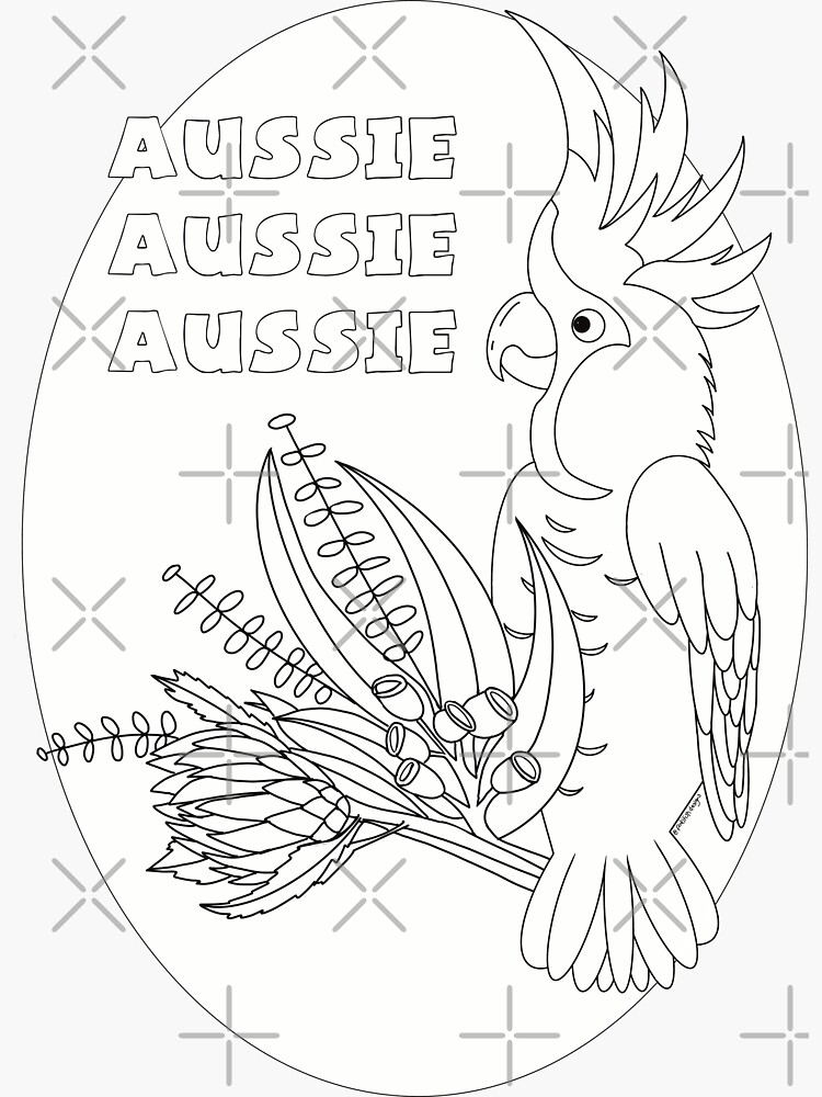 Just add Colour! Aussie Cocky by FunkiFish