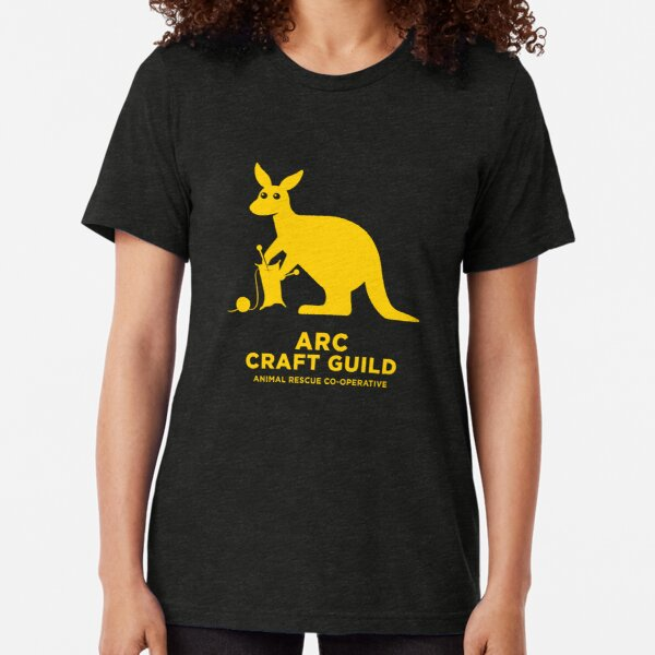 ARC Craft Guild - in yellow - Animal Rescue Co-operative Tri-blend T-Shirt
