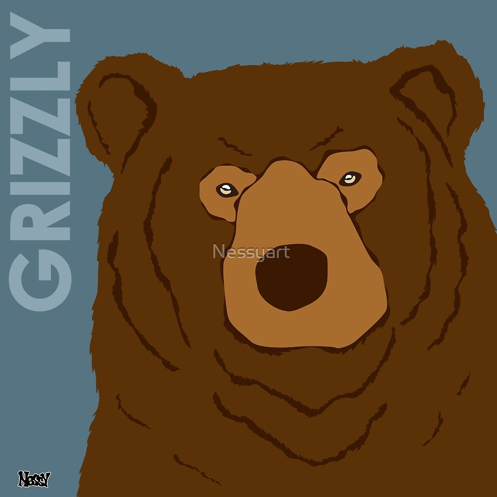 Grizzly Bear by Nessyart
