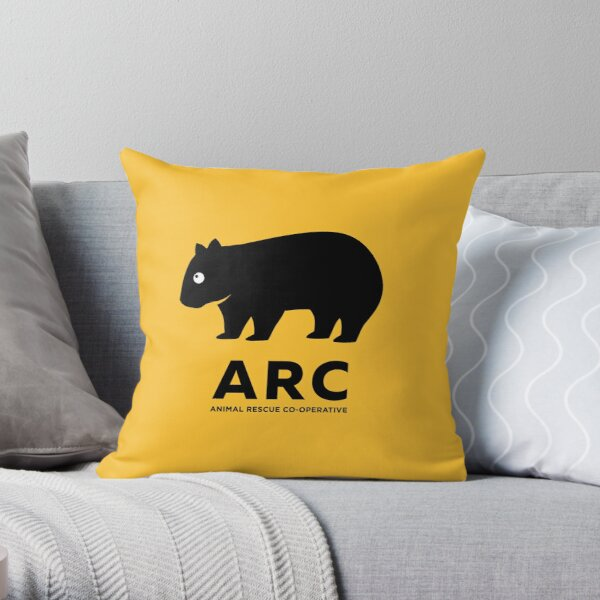 ARC Wombat gear: Pillows, Hangings, Stickers! Stuff for your pool room or shelter Throw Pillow