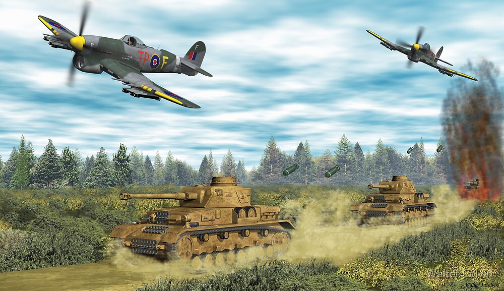 Quot Hawker Typhoon Tank Busters Quot By Walter Colvin Redbubble