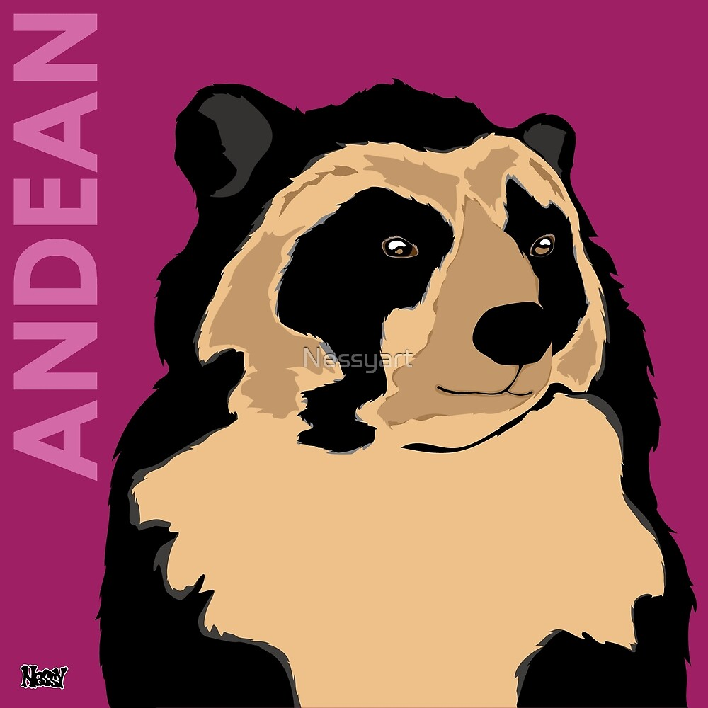 Andean Bear by Nessyart
