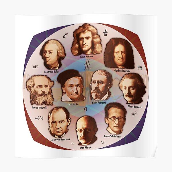 Some Math, Physics, and Quantum Mechanics Greats Poster