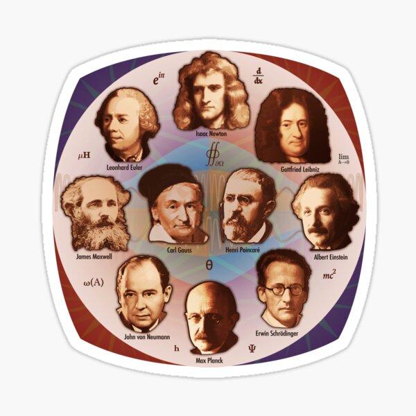 Some Math, Physics, and Quantum Mechanics Greats Sticker