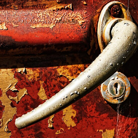 Rusted door handle macro style by Rob D