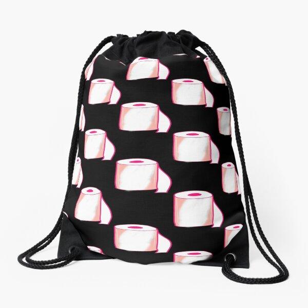 Pink Toilet Roll Drawstring Bag
