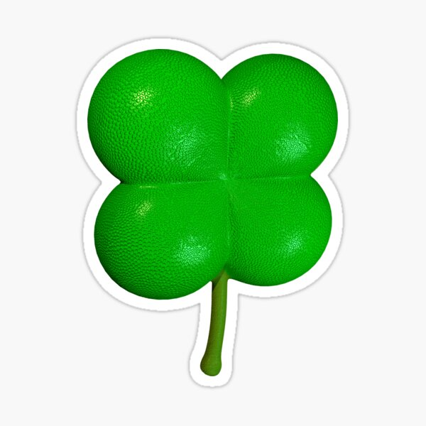 Lucky 4-Leaf Clover 3D Sticker