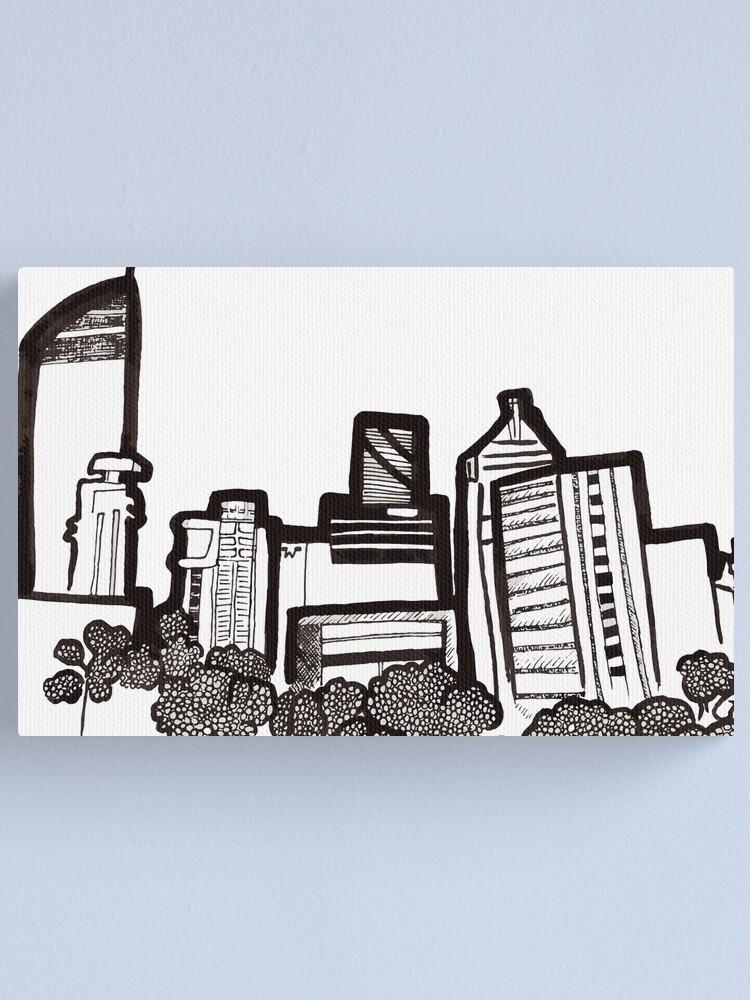 Alternate view of Brisbane City Skyline - View from Kangaroo Point Canvas Print