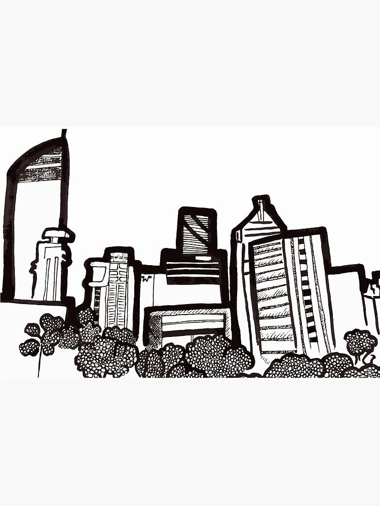 Brisbane City Skyline - View from Kangaroo Point by annaleebeer