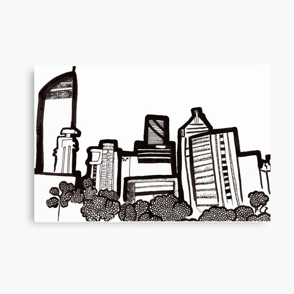 Brisbane City Skyline - View from Kangaroo Point Canvas Print