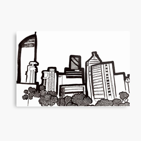 Brisbane City Skyline - View from Kangaroo Point Metal Print