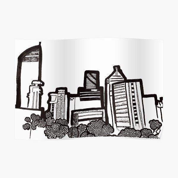 Brisbane City Skyline - View from Kangaroo Point Poster