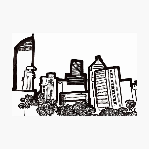 Brisbane City Skyline - View from Kangaroo Point Photographic Print