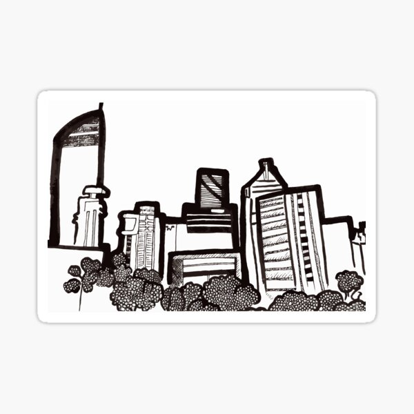 Brisbane City Skyline - View from Kangaroo Point Sticker