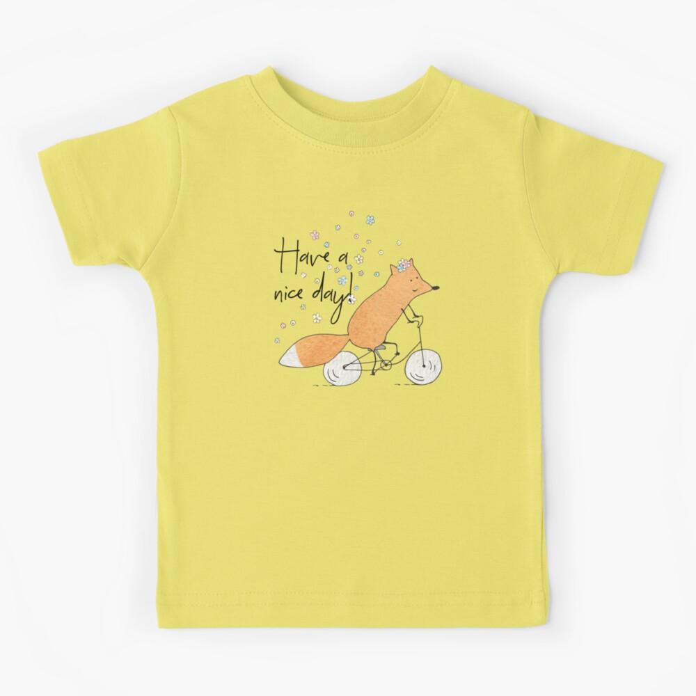 Fahrrad Fuchs Kinder T-Shirt