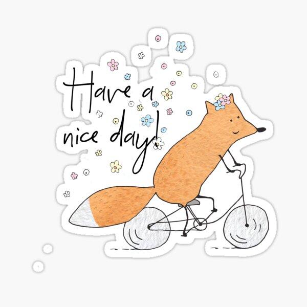 Bicycle fox Sticker