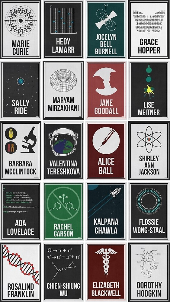 20 Women Who Changed Science. And the World. by Hydrogene at Redbubble