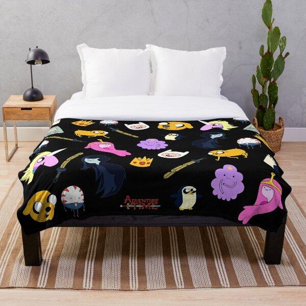 Adventure Time pattern Throw Blanket