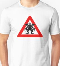 Cthulhu Warning Signs black Unisex T-Shirt