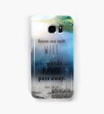 Matthew 24:35 Samsung Galaxy Case/Skin
