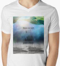 Matthew 24:35 Men's V-Neck T-Shirt