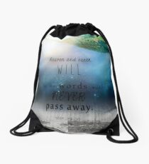 Matthew 24:35 Drawstring Bag