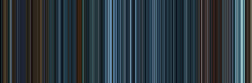 Moviebarcode: TRON: Legacy (2010) [Simplified Colors] by moviebarcode