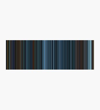 Moviebarcode: TRON: Legacy (2010) [Simplified Colors] Photographic Print