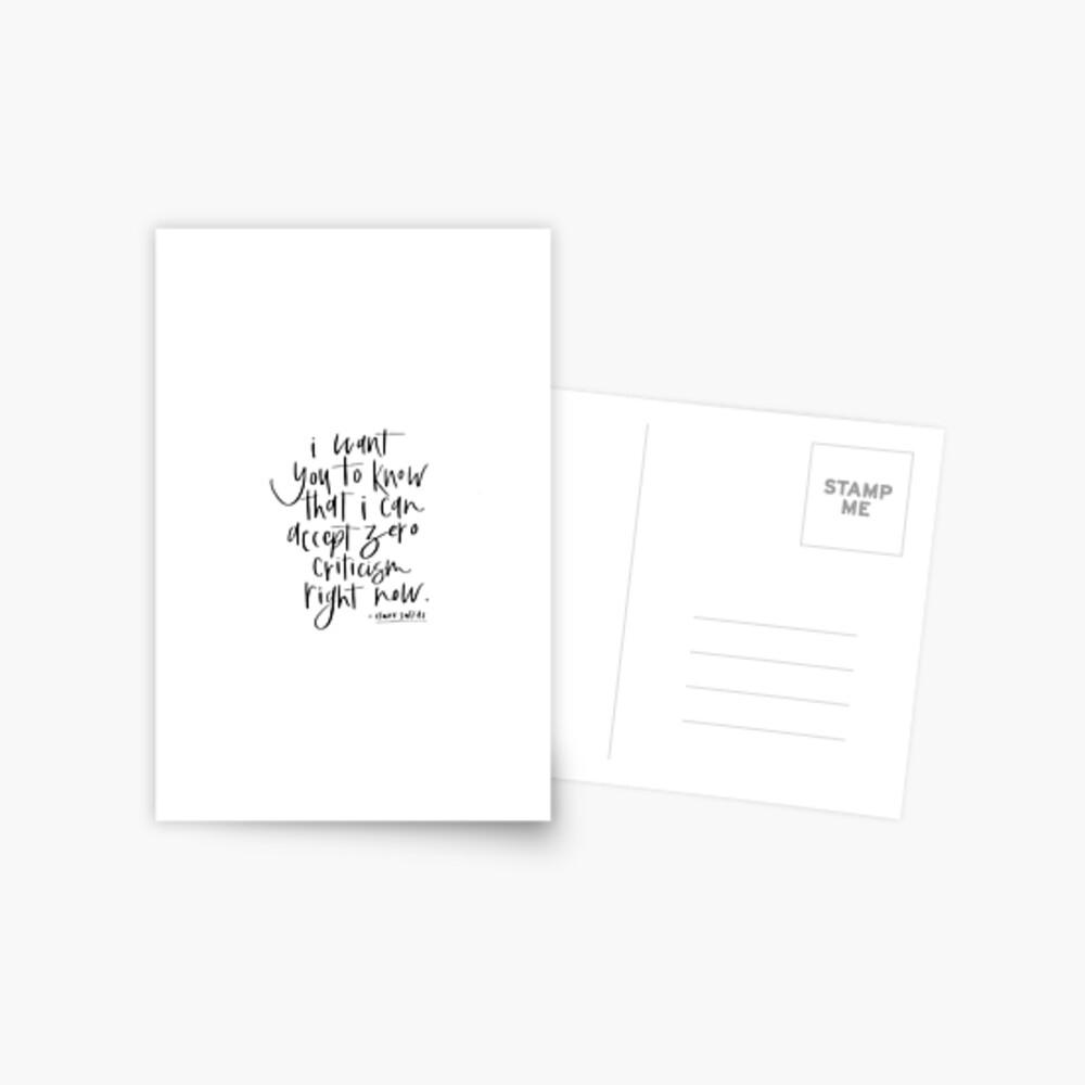 Claire Saffitz Quote Postcard