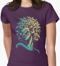 Funky Medusa Womens Fitted T-Shirt