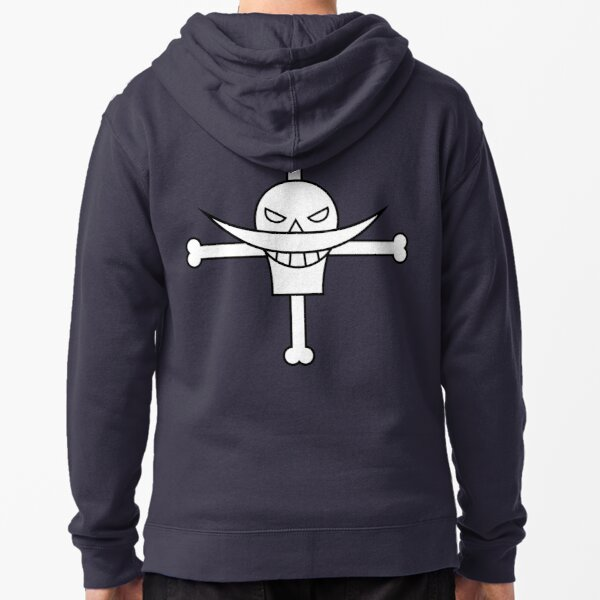 Whitebeard Pirates Jolly Roger Zipped Hoodie