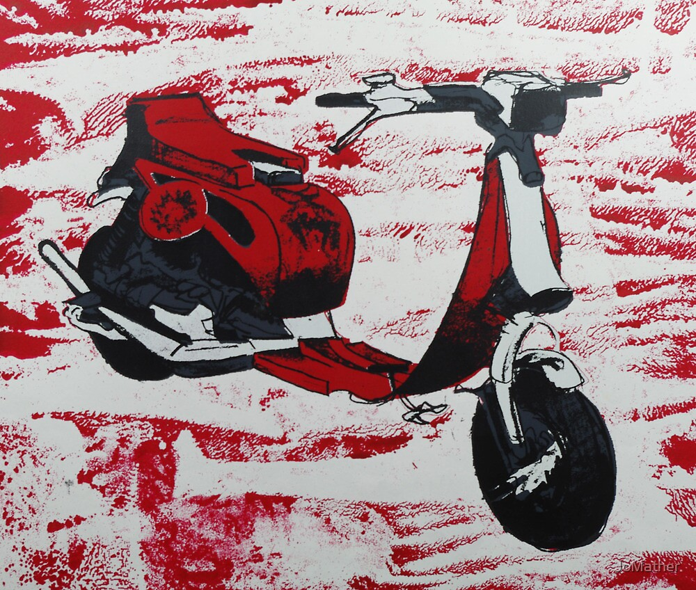 1980s Cutdown Scooter Red by JoMather